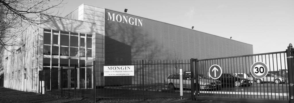Devanture de l'usine Mongin à Grigny 91