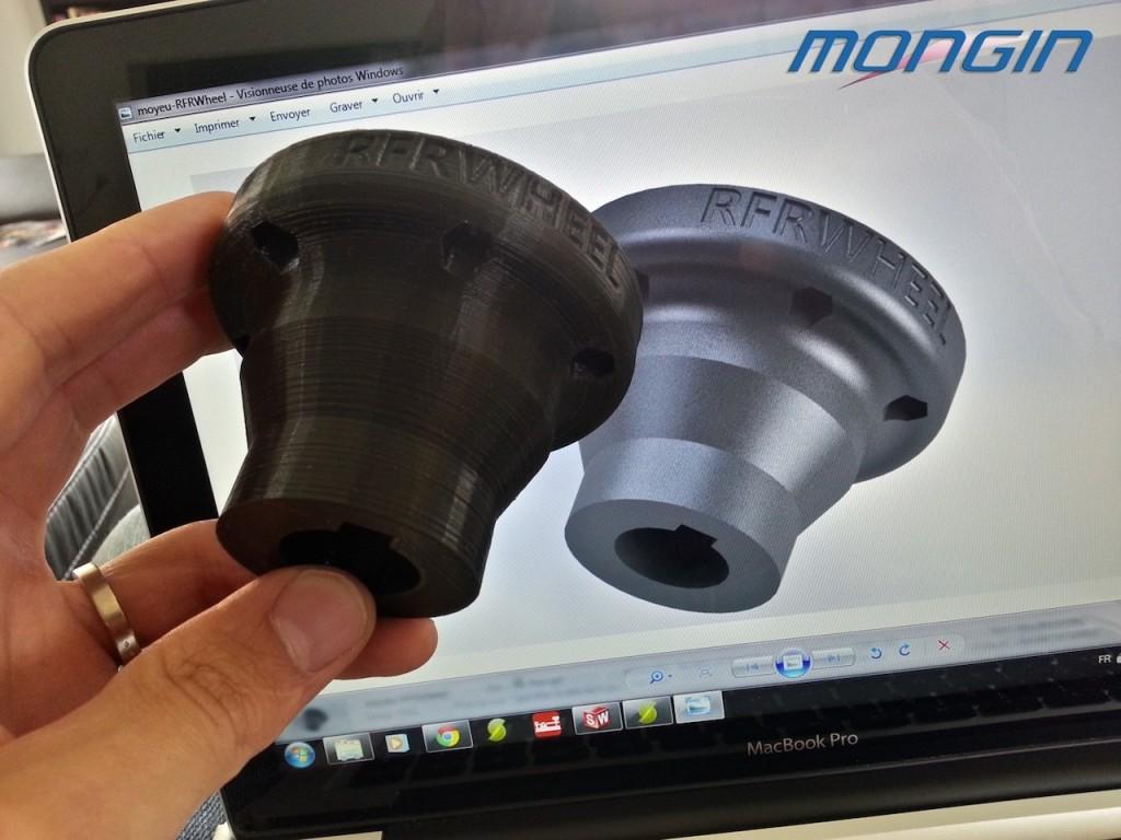 Pièce en fabrication additive pour l'automobile.
