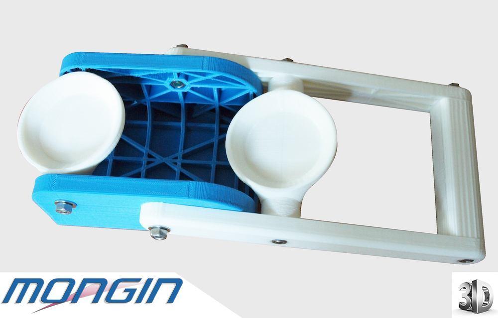 Pièce prototype réalisée en fabrication en printage 3D pour tests et visualisation.