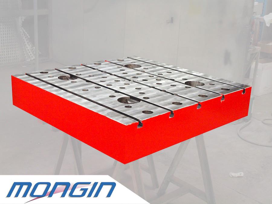Mongin le spécialiste des rainures à T pour tous types de plateaux de machines outils.